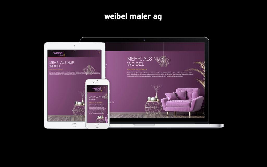 Showcase weibel maler AG